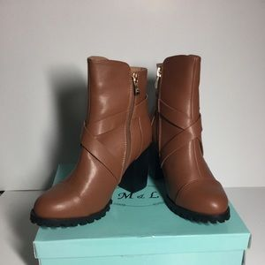 Women's Mango Leather ankle Boots